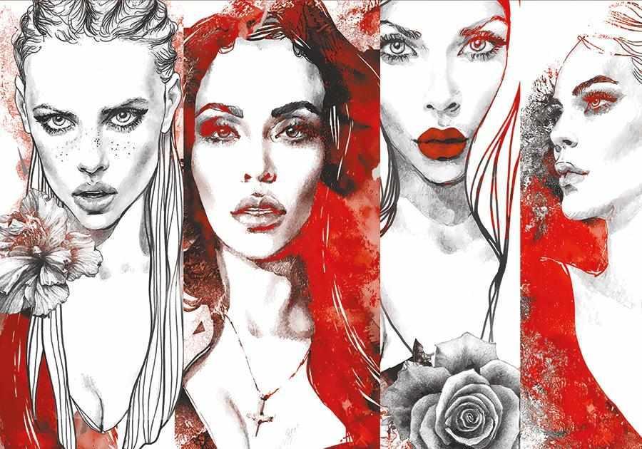 obraz Čtyři tváře ženy