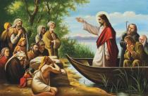 obrazy, reprodukce, Ježíš na lodi