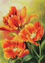 obrazy, reprodukce, Tři tulipány
