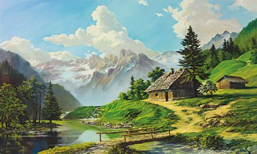 obraz Stará chatrč
