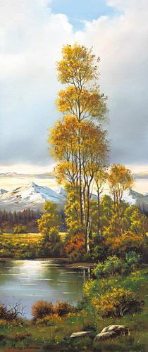 obraz Rybník v dolině 2