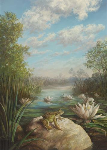 obraz Žába a lekná