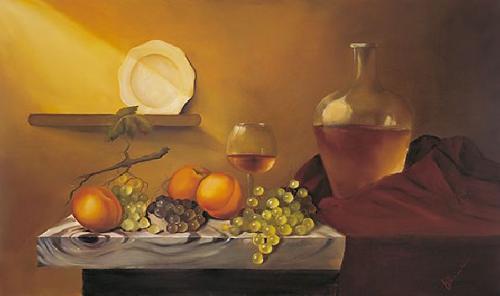 obraz Zátiší s talířem na polici