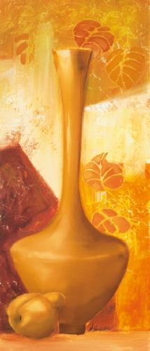obraz Váza a hruška