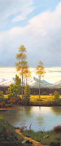 obraz Rybník v doline 1