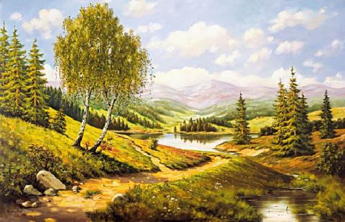 obraz Brezy u chodníky