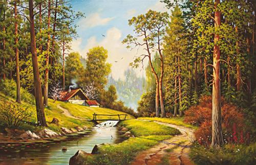 obraz Zahrada v lese