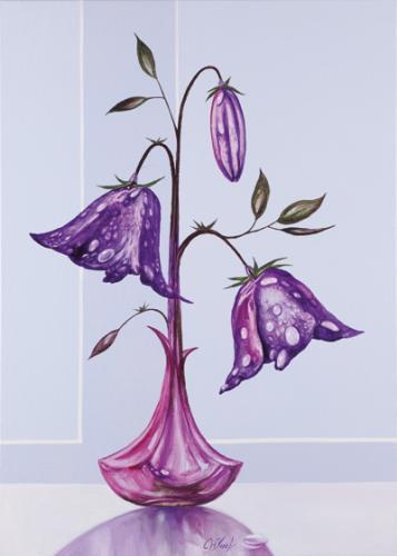 obraz Orosená Květina II