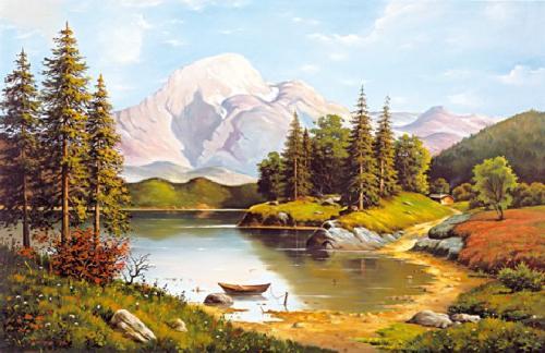 obraz Vresy nad jazerom