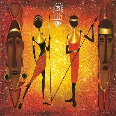 obraz African girls IV