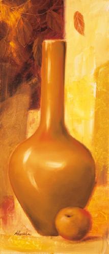 obraz Váza a jablko