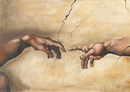 obraz Stvorenia Adama