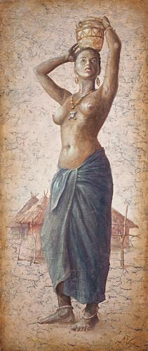 obraz African girl IV