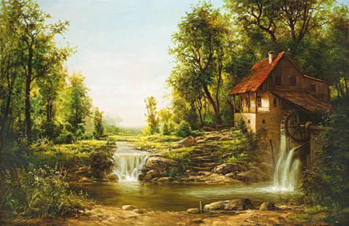 obraz Starý mlýn.Léto
