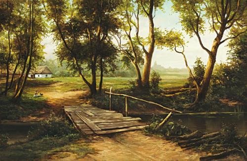 obraz Starý mostík