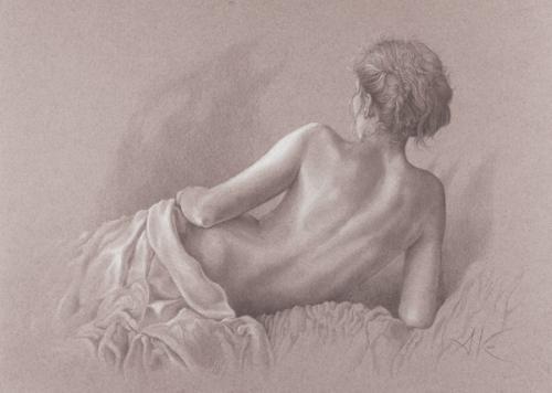 obraz Akt v posteli