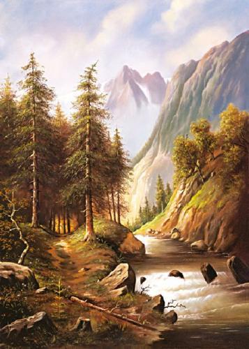 obraz Chodník nad potokom