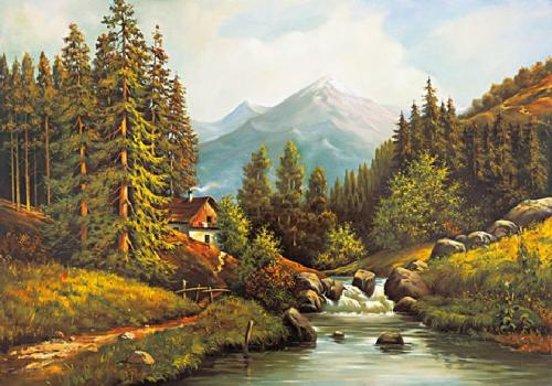 obraz Nad potokom