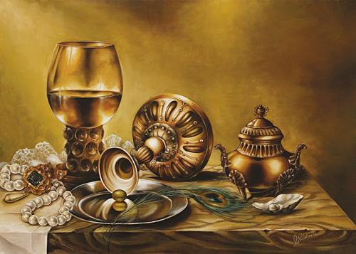 obraz Zátišie s perlami