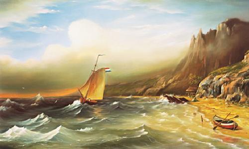 obraz Mora pred búrkou