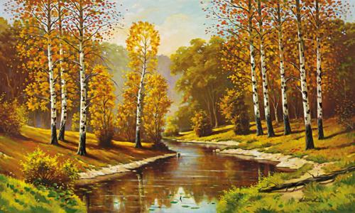 obraz Podzimní břízy