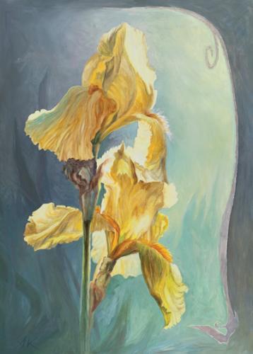 obraz Iris žlutý II