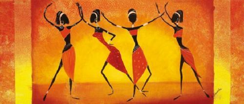 obraz Tancujúci dievčatá