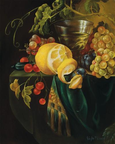obraz Zátiší s citronem