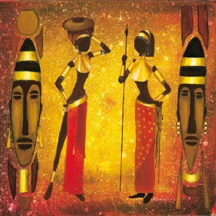 obraz African girls III