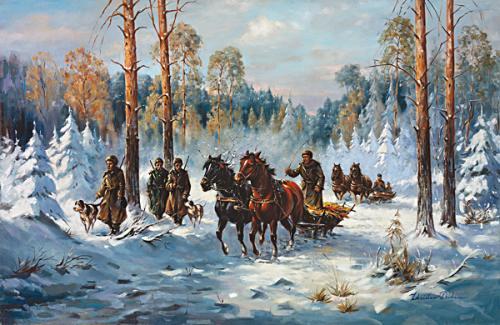 obraz Na lovu
