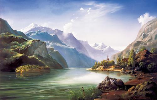 obraz Horská zátoka