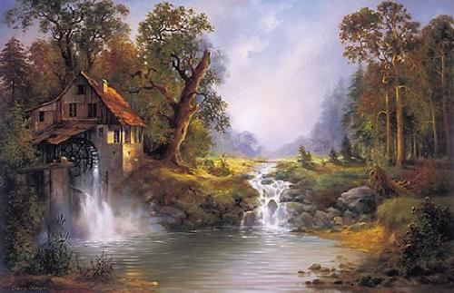 obraz Starý mlyn