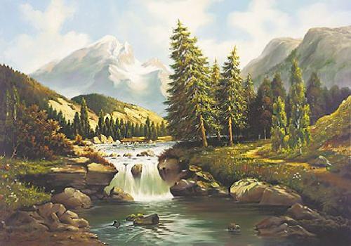 obraz Rieka pod horami