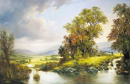 obraz Vŕby nad potokom