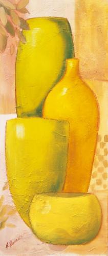 obraz Zelené vázy