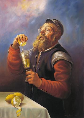 obraz Žid s citrónom