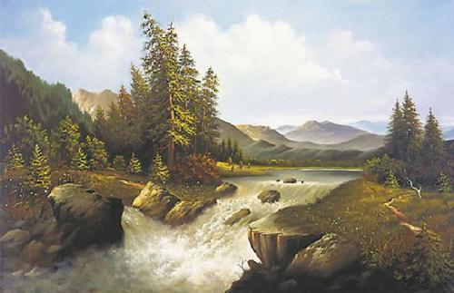 obraz Horský splav
