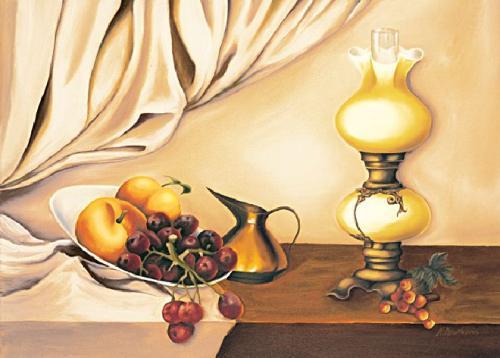 obraz Zátišie s lampou