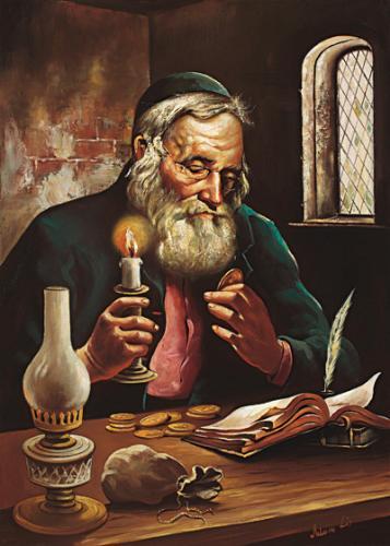 obraz Žid se svícnem