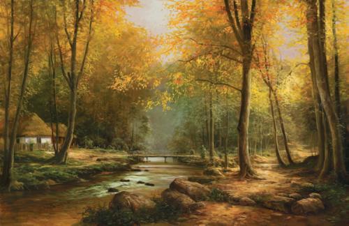 obraz Les na jeseň