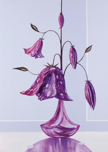 obraz Orosená Květina I