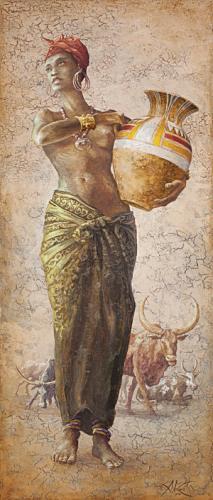 obraz African girl I