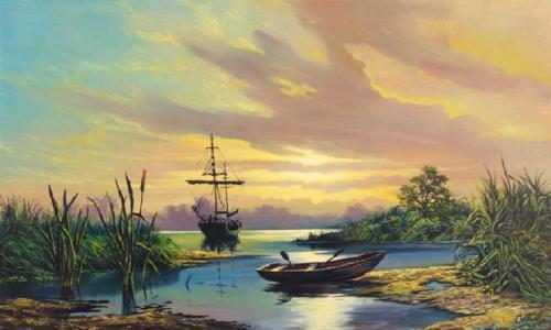 obraz Na jezeře