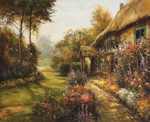 obraz Dům v zahradě