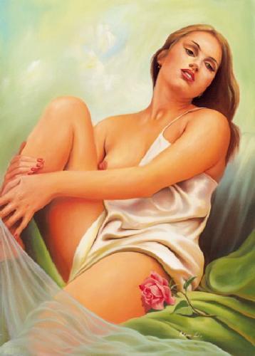 obraz Akt s růží