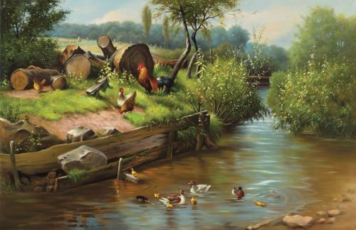 obraz Dvůr na řece