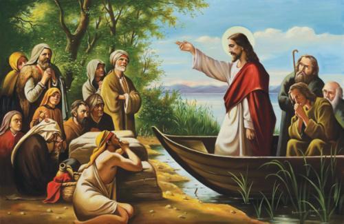 obraz Ježíš na lodi