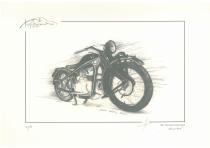 obrazy, reprodukce, Historická motorka BMW R2