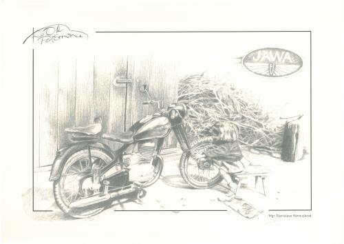 obraz Historická motorka Jawa