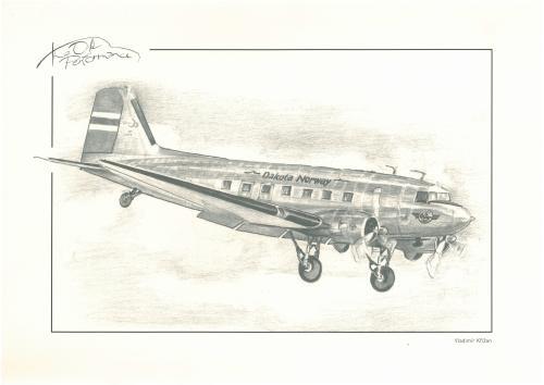 obraz Historický letoun Dakota Norway